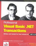 Professional Visual Basic.Net Transactions